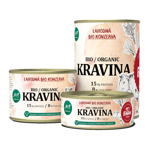 Pet Farm Family konzerva Kravina BIO 180g